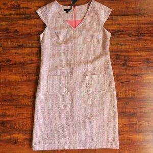 NWT Talbots Pink Tweed Dress Size 12